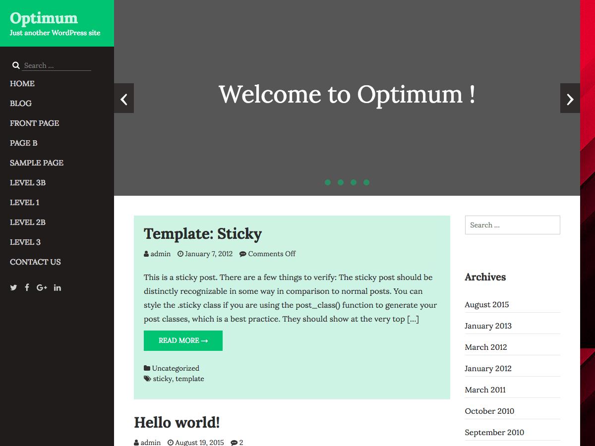 Download Optimum 1.9 – Free WordPress Theme