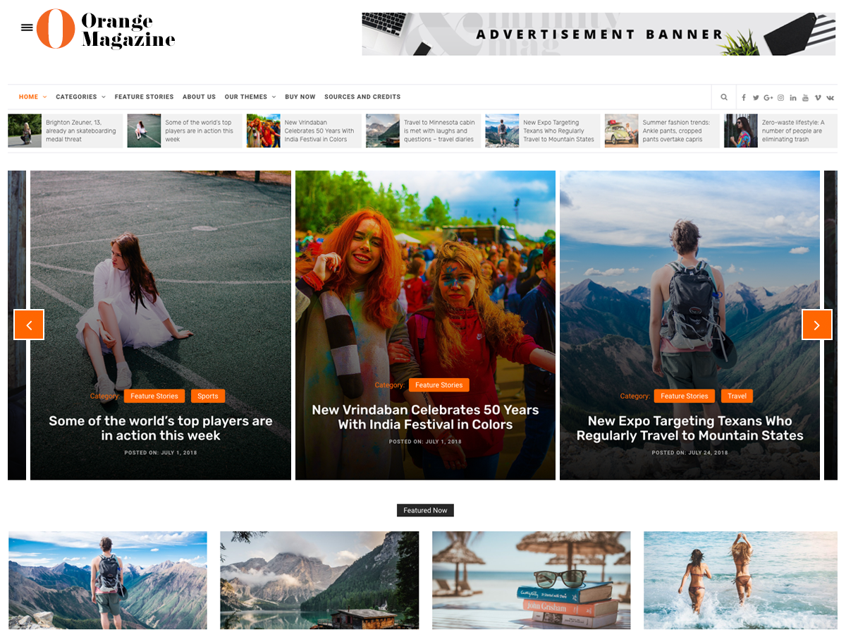 Download Orange Magazine 1.0.0 – Free WordPress Theme