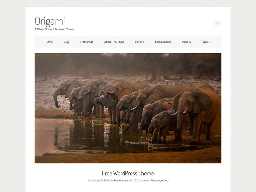 Download Origami 1.7.5 – Free WordPress Theme