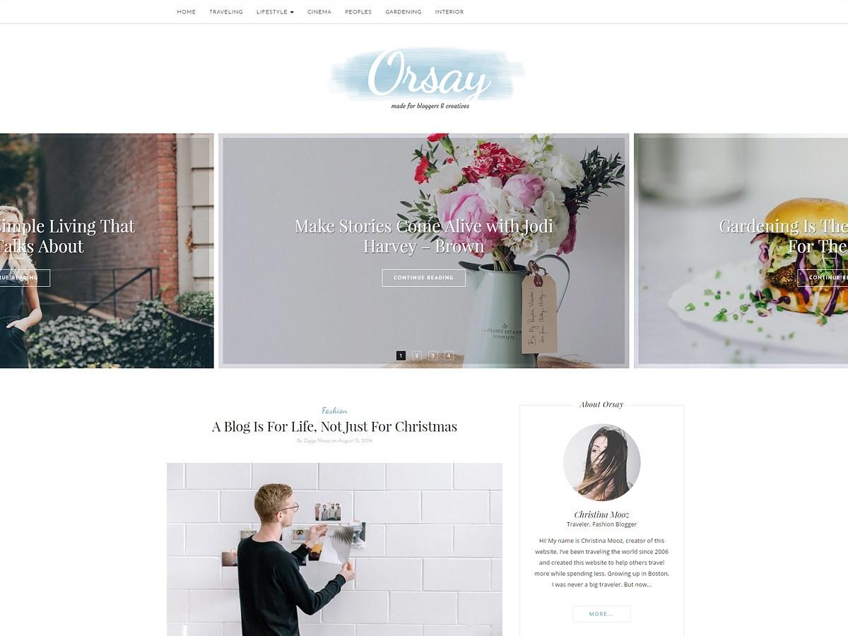 Download Orsay 1.0.9 – Free WordPress Theme