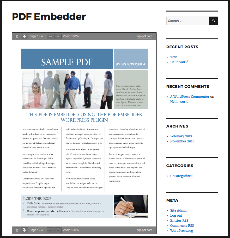 Download PDF Embedder 3.2 – Free WordPress Plugin