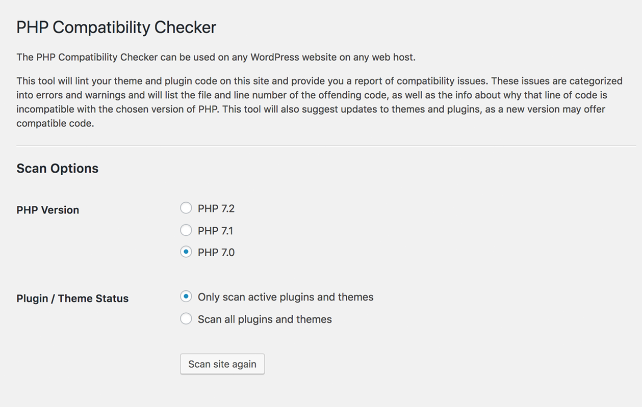 Download PHP Compatibility Checker 1.4.6 – Free WordPress Plugin