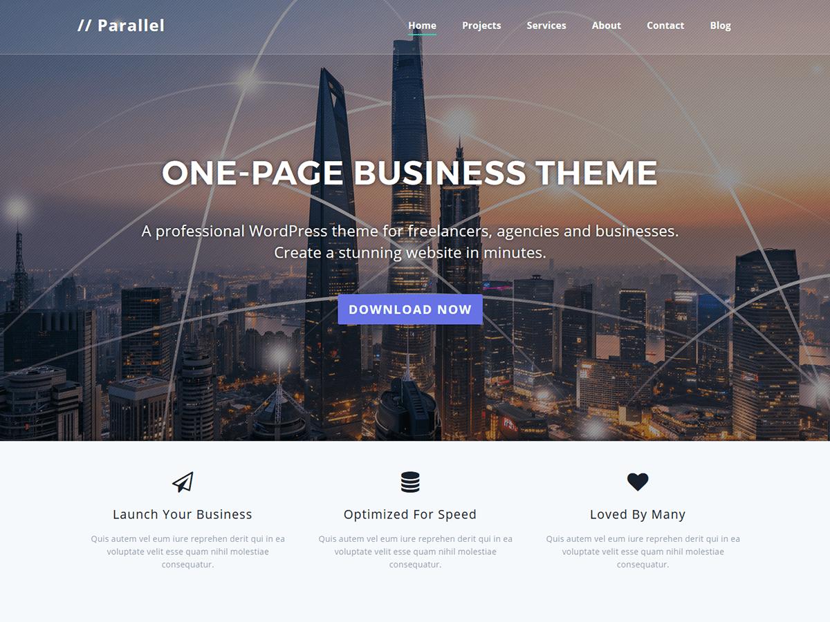 Download Parallel 1.3.9.9 – Free WordPress Theme