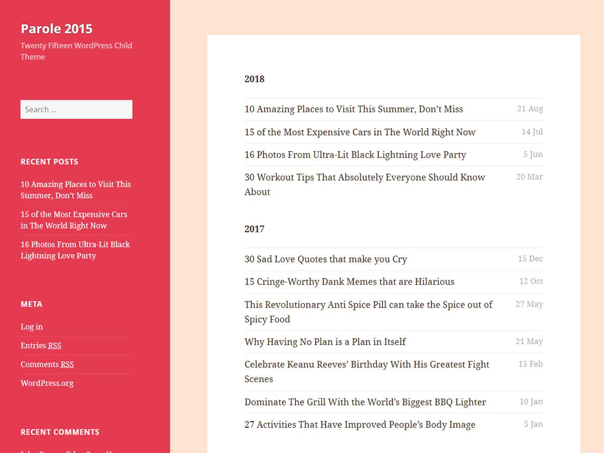 Download Parole 2015 1.0.3 – Free WordPress Theme