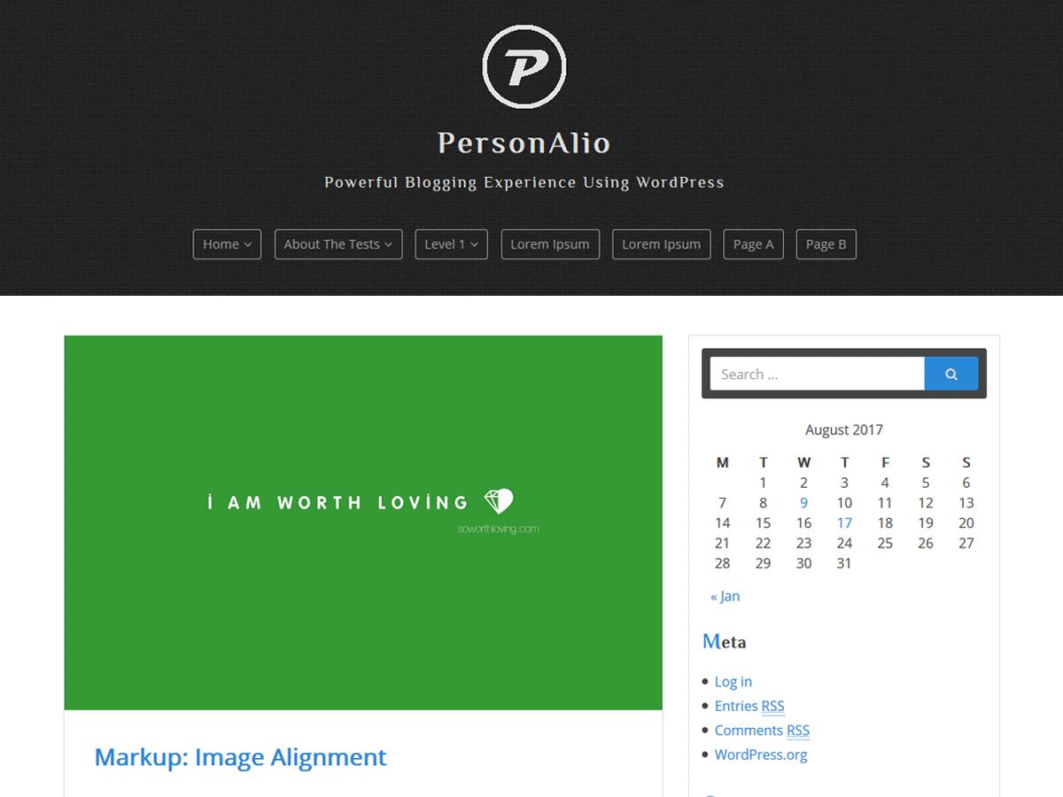 Download Personalio 1.0.1 – Free WordPress Theme