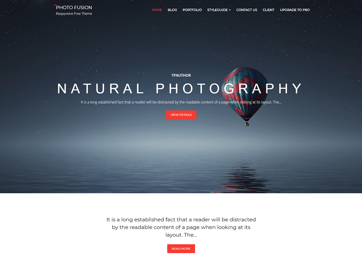 Download Photo Fusion 1.1.1 – Free WordPress Theme