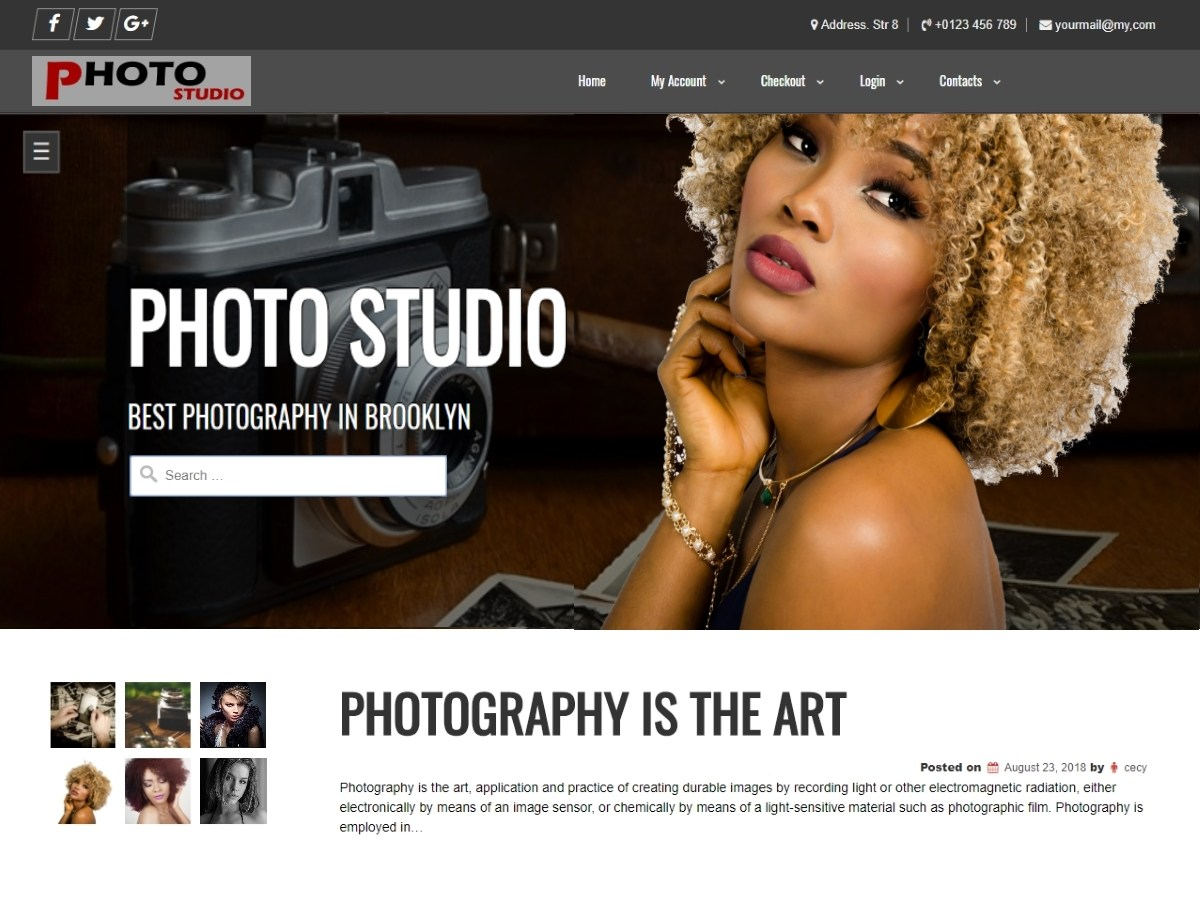 Download Photo Studio 1.1.3 – Free WordPress Theme