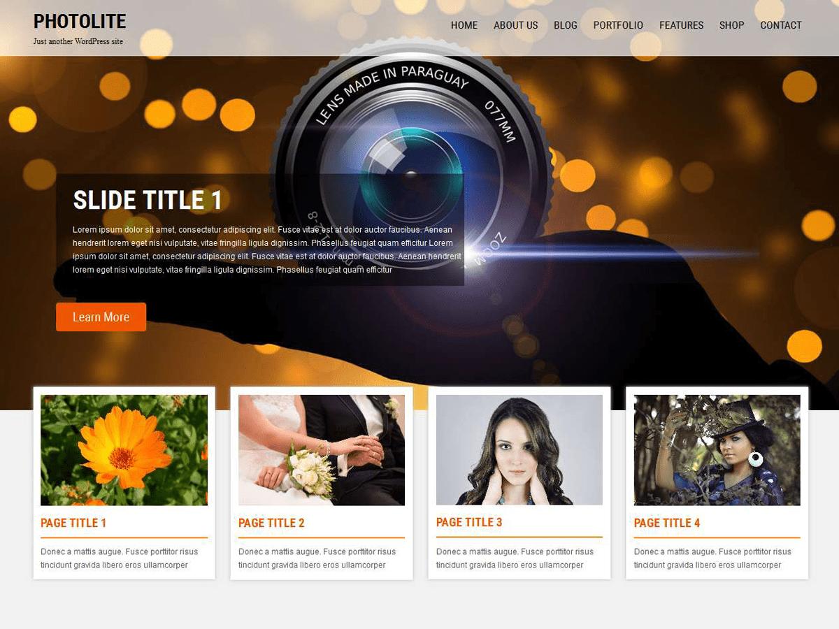 Download Photolite 1.3.3 – Free WordPress Theme