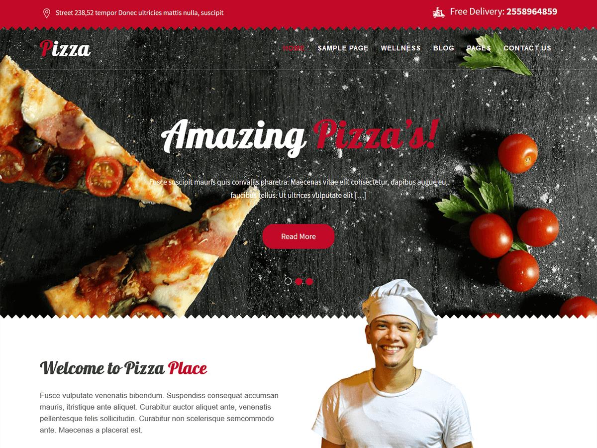Download Pizza Lite 1.2 – Free WordPress Theme