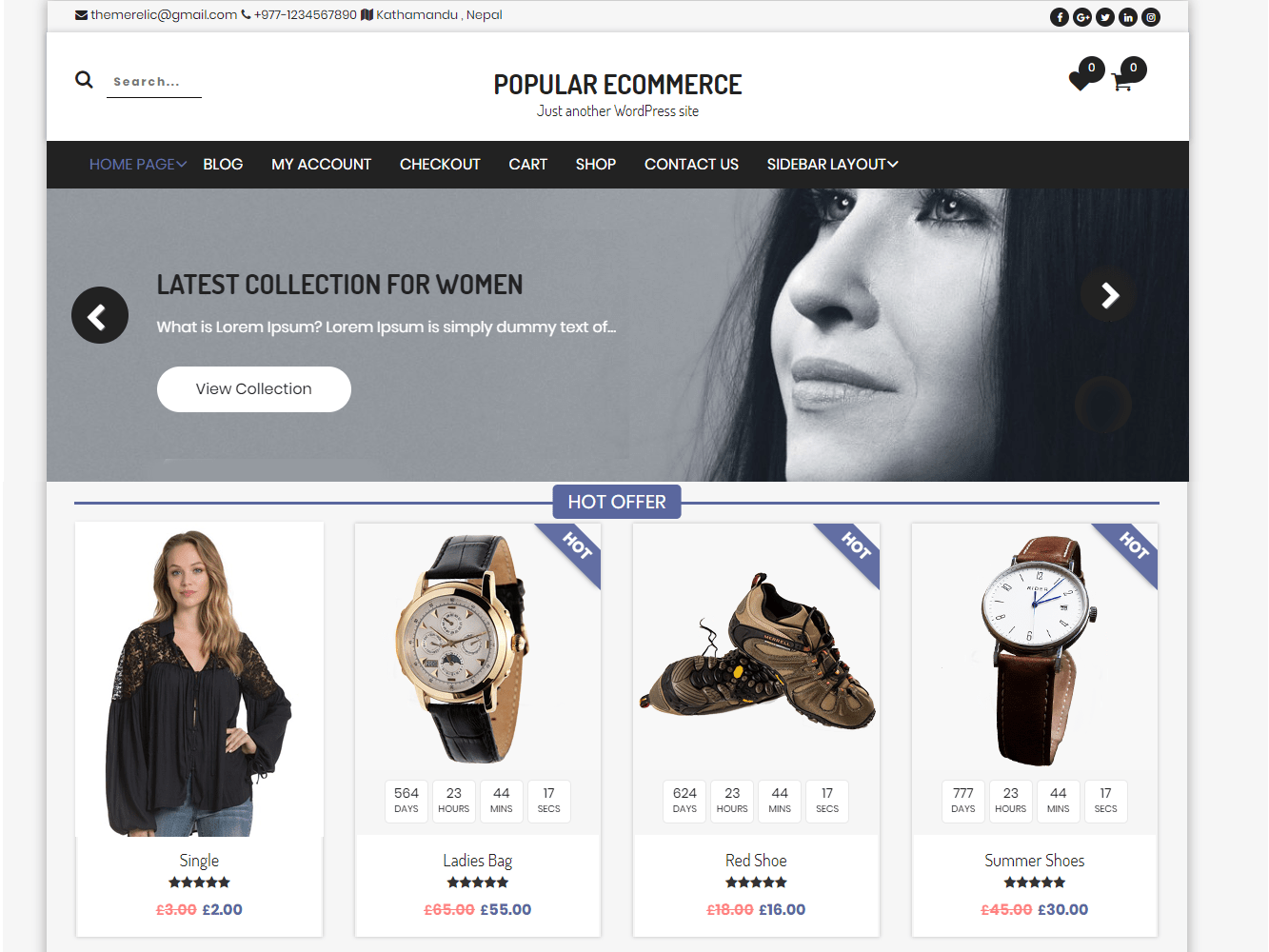 Download Popular eCommerce 1.0.6 – Free WordPress Theme