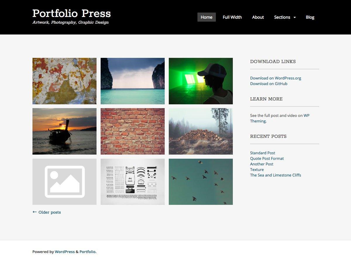 Download Portfolio Press 2.7.3 – Free WordPress Theme