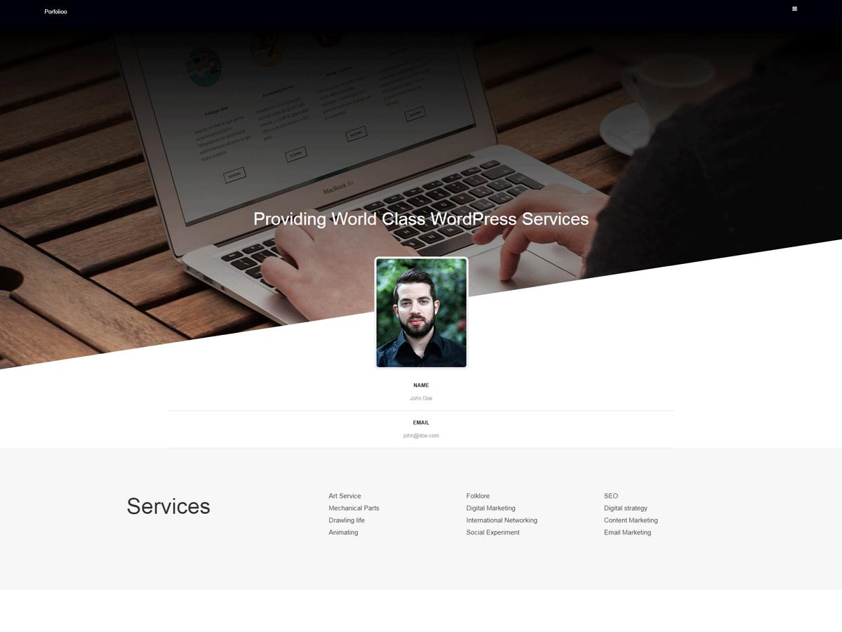 Download Portfolioo 0.2.6 – Free WordPress Theme
