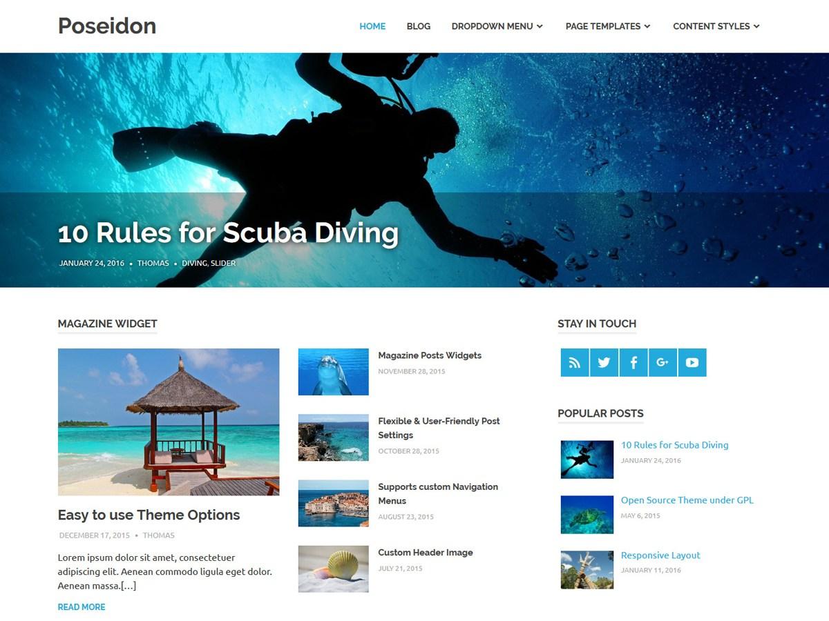 Download Poseidon 1.6.1 – Free WordPress Theme