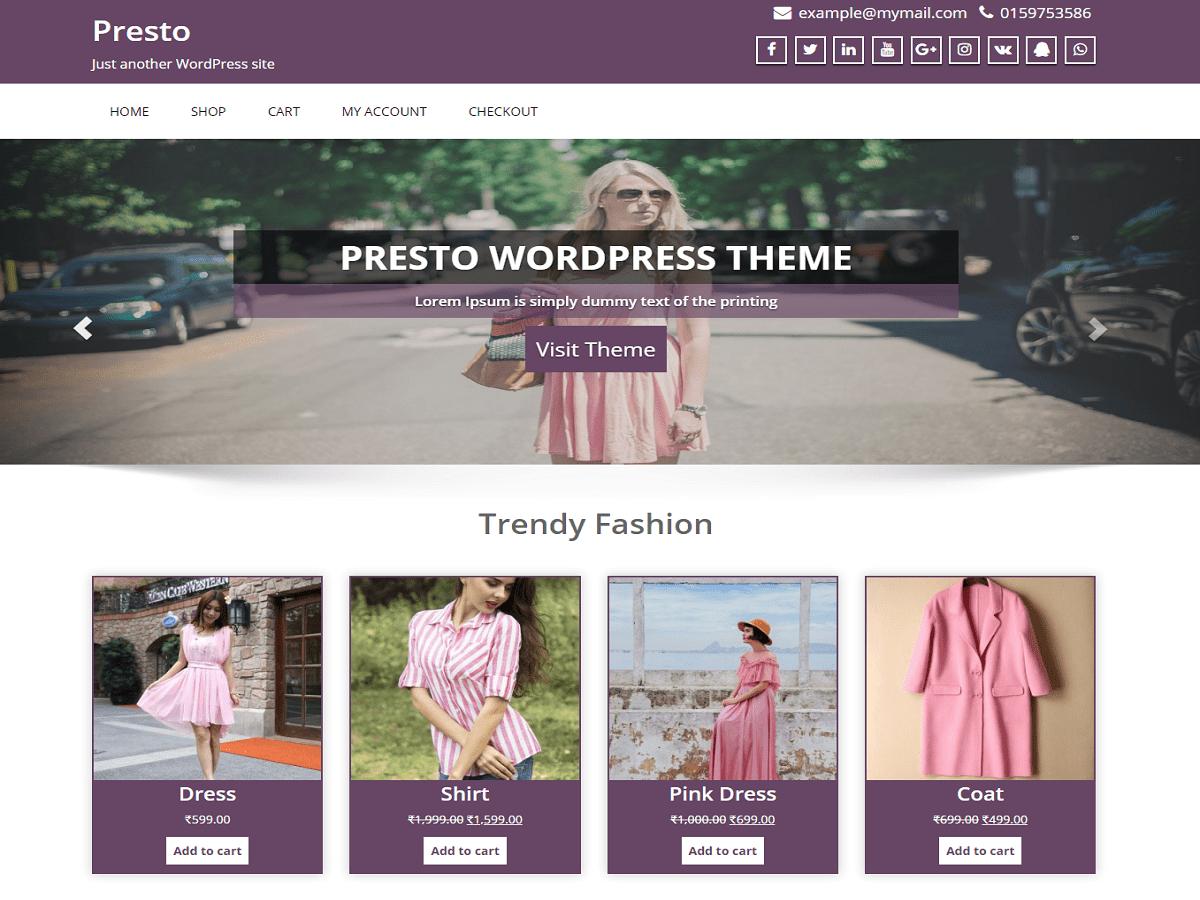 Download Presto 0.5 – Free WordPress Theme
