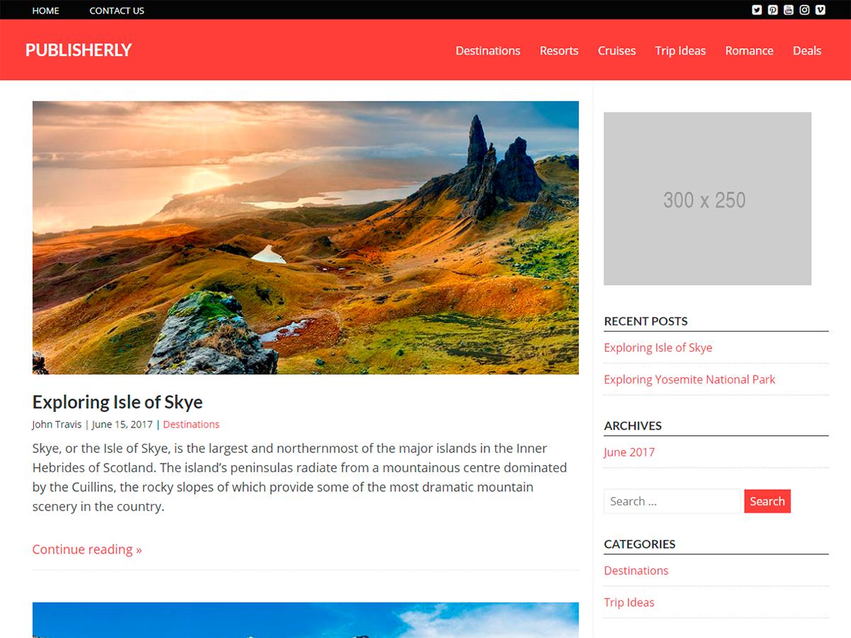 Download Publisherly 1.1.4 – Free WordPress Theme