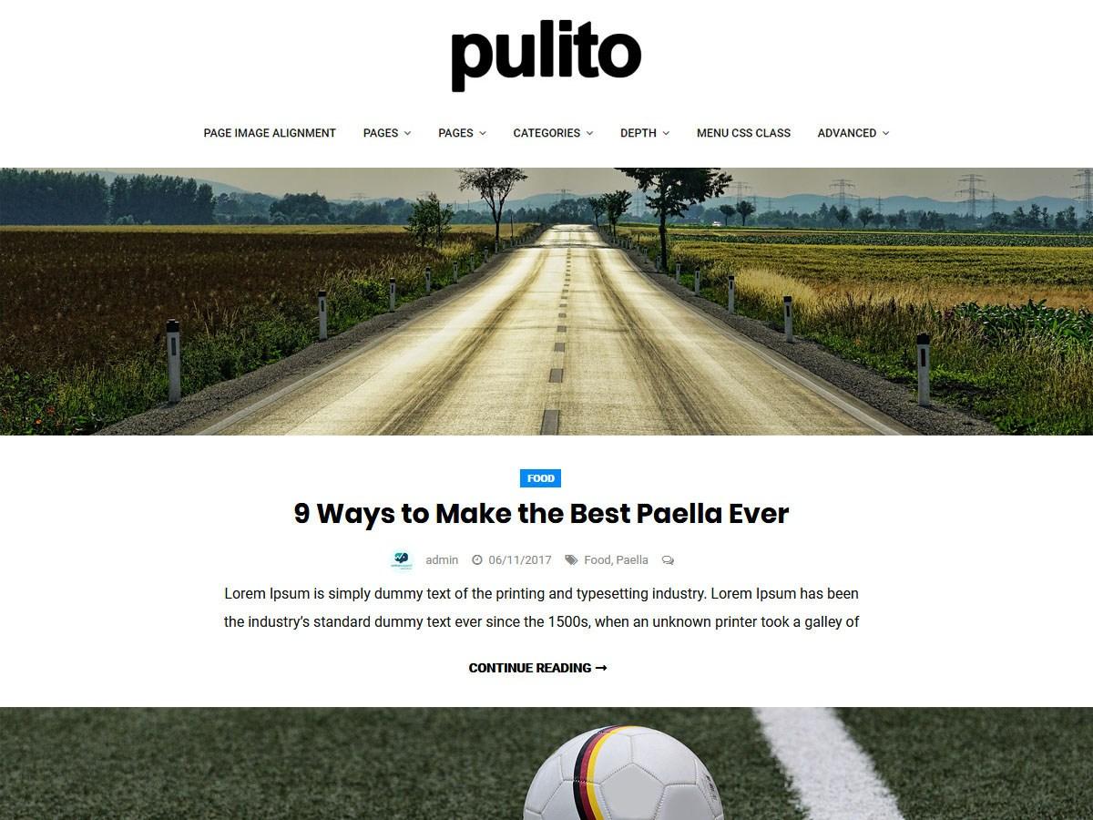 Download Pulito Clean Blog Lite 1.0.8 – Free WordPress Theme