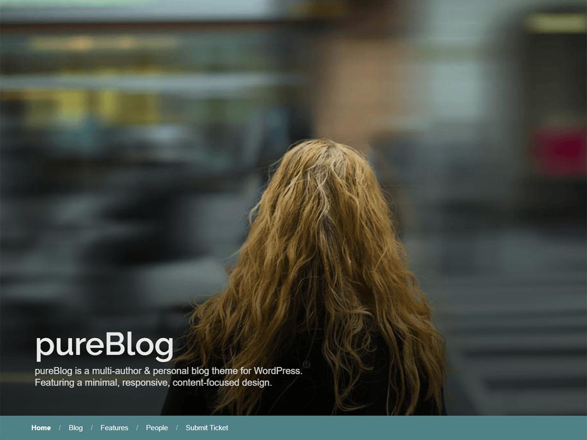 Download PureBlog 1.0.0 – Free WordPress Theme