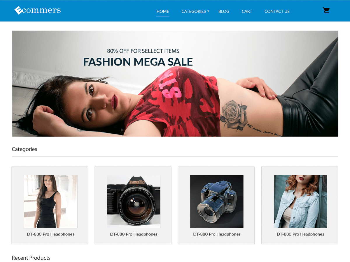Download Pxt Ecommerce 1.8 – Free WordPress Theme