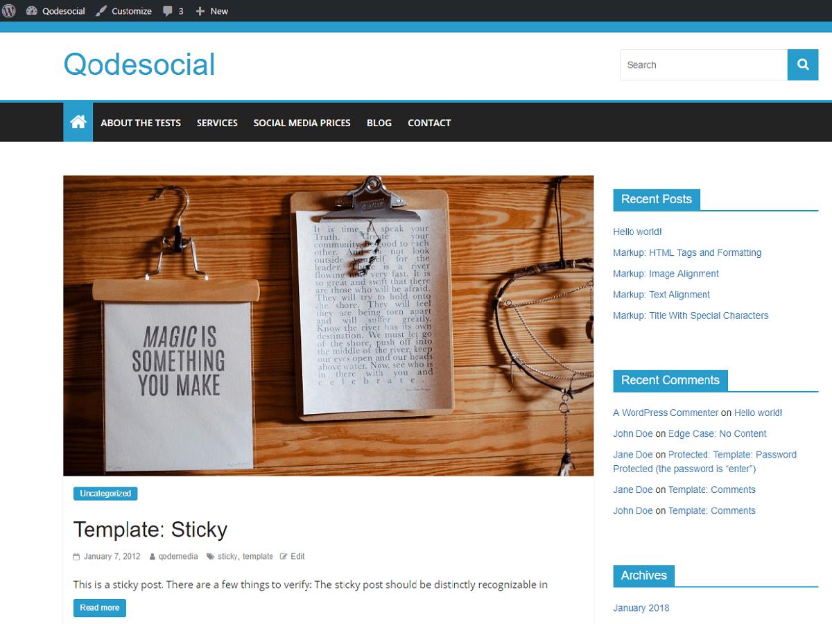 Download Qodesocial 1.02 – Free WordPress Theme