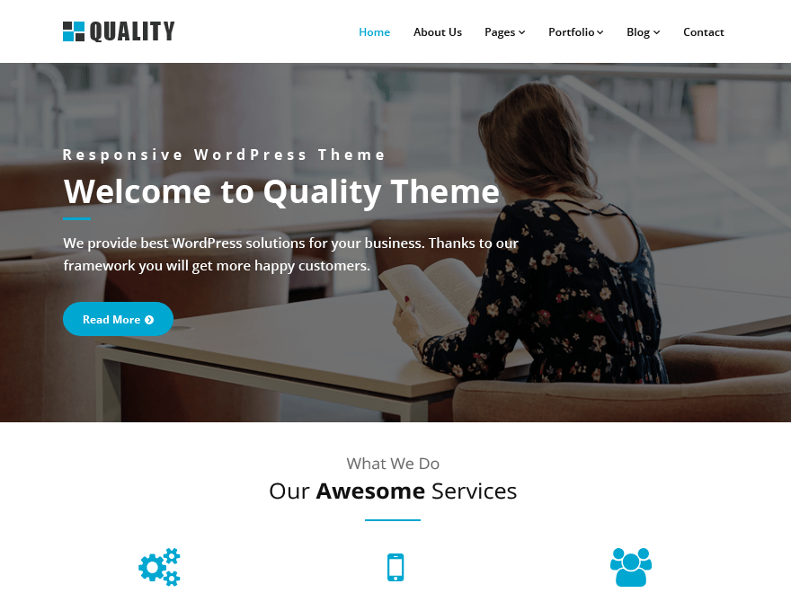 Download Quality blue 1.5.7 – Free WordPress Theme