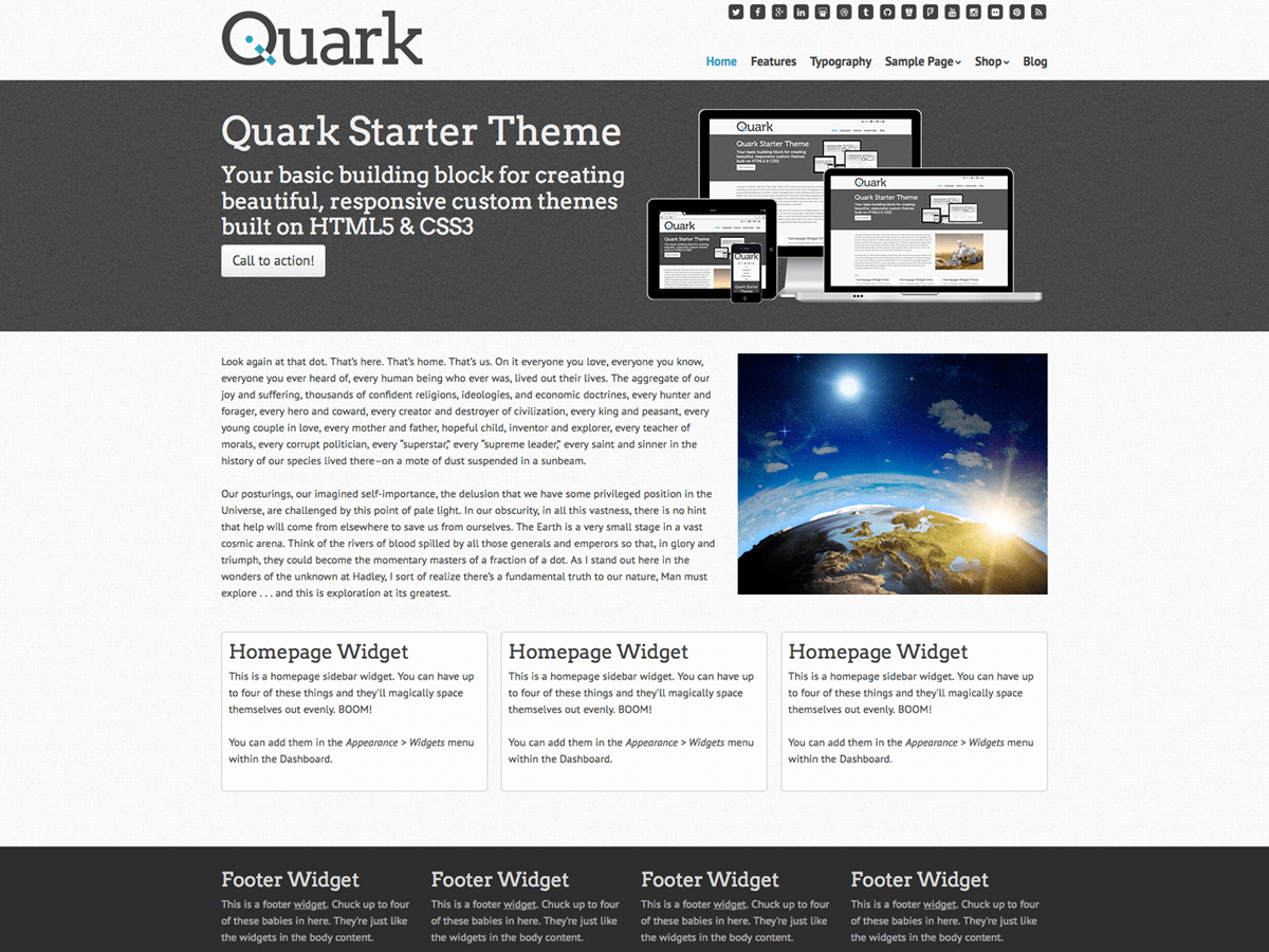 Download Quark 1.4.1 – Free WordPress Theme