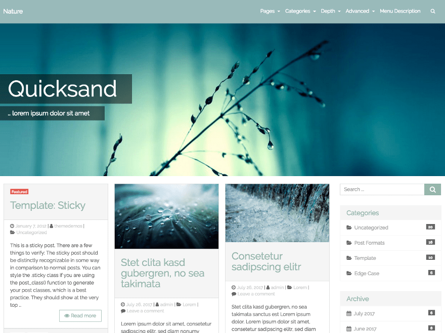 Download Quicksand 0.7.0 – Free WordPress Theme