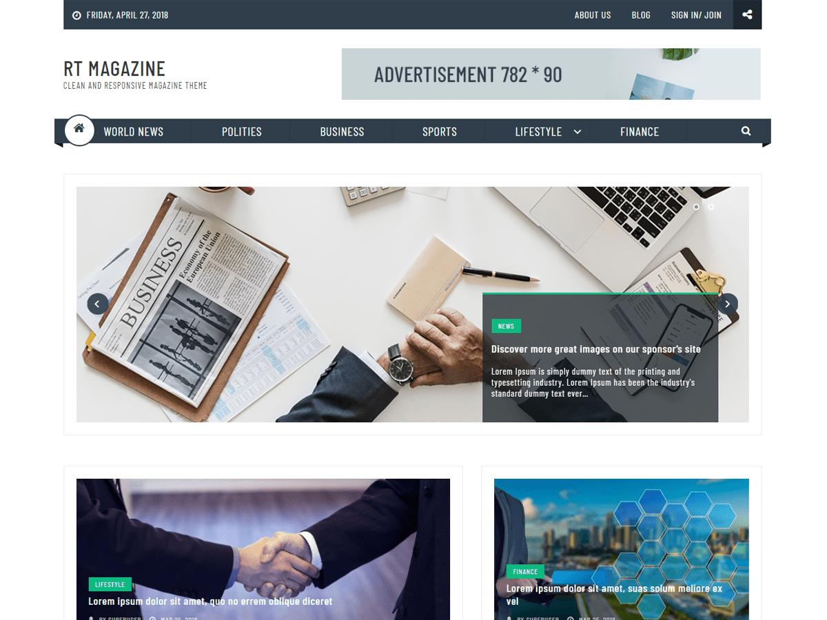 Download RT Magazine Plus 1.0.1 – Free WordPress Theme