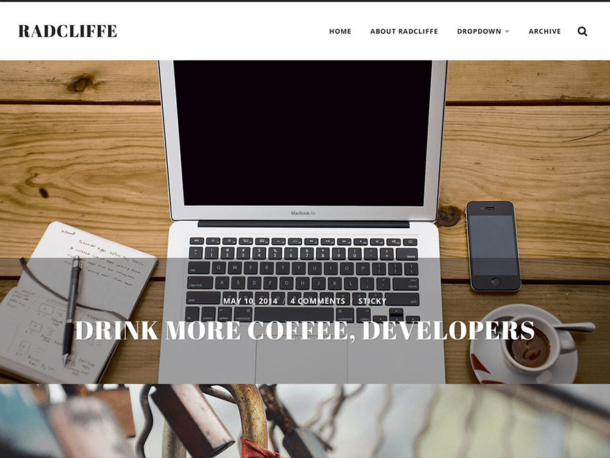 Download Radcliffe 1.23 – Free WordPress Theme