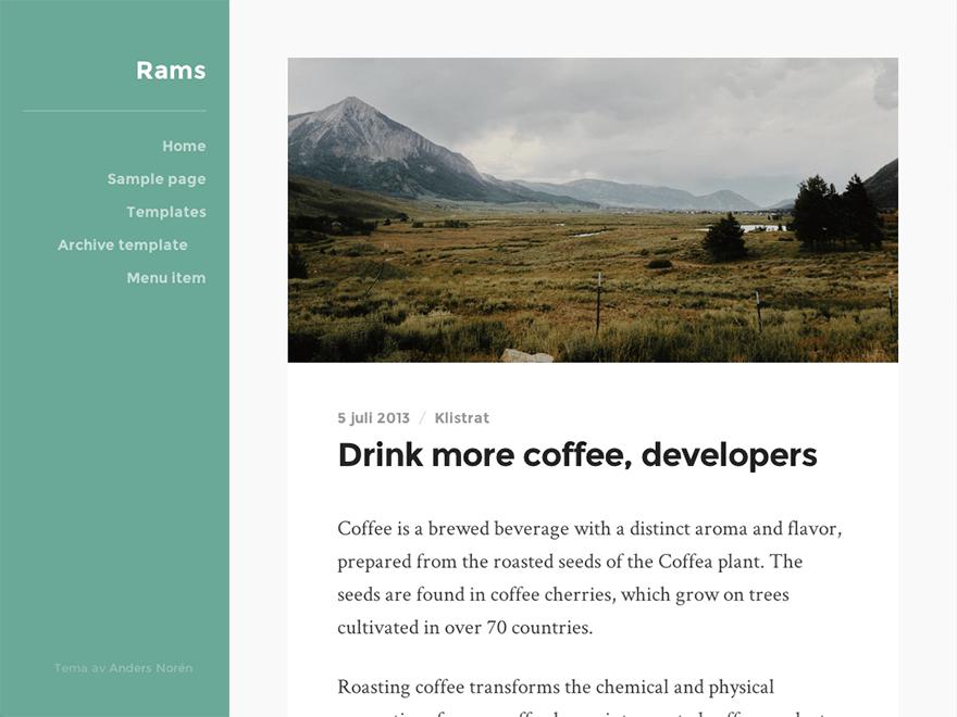 Download Rams 1.17 – Free WordPress Theme