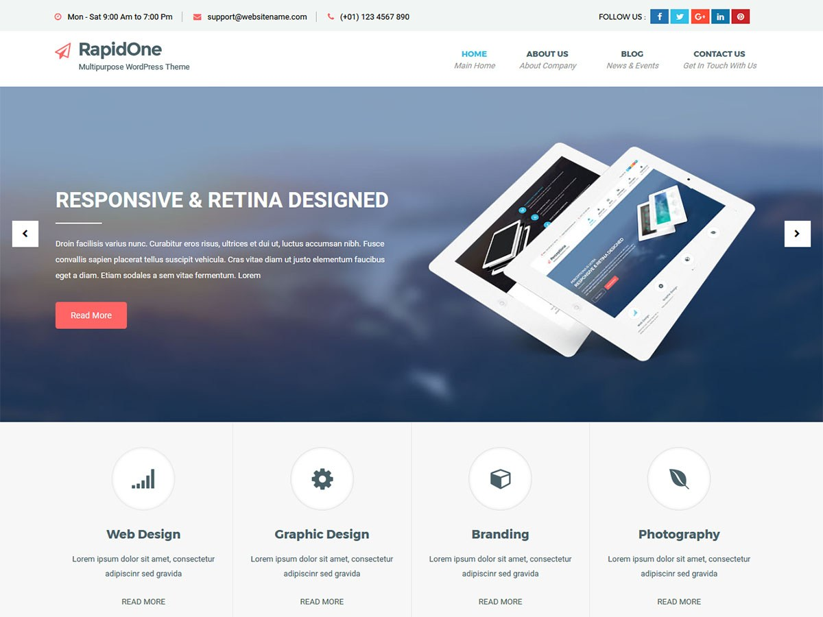 Download RapidOne lite 1.2.5 – Free WordPress Theme