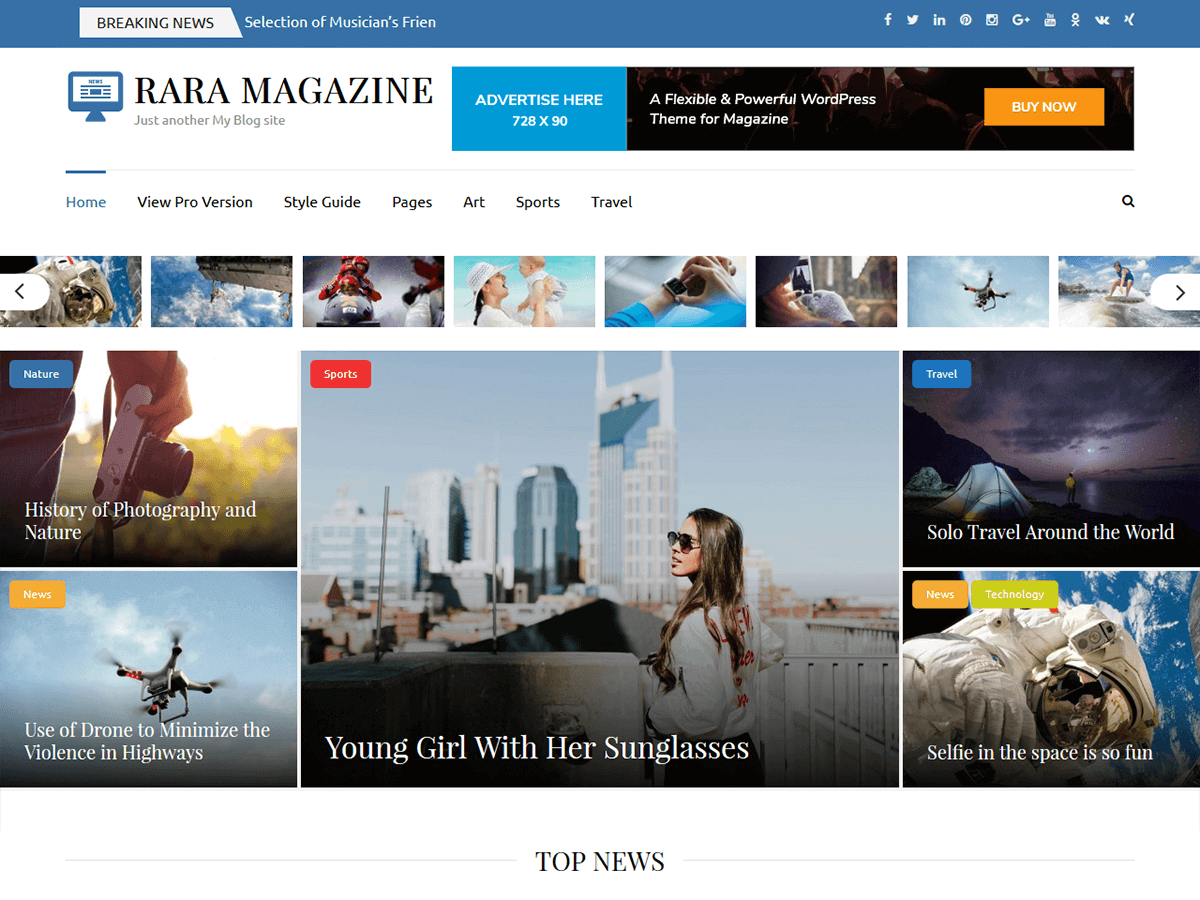 Download Rara Magazine 1.0.0 – Free WordPress Theme