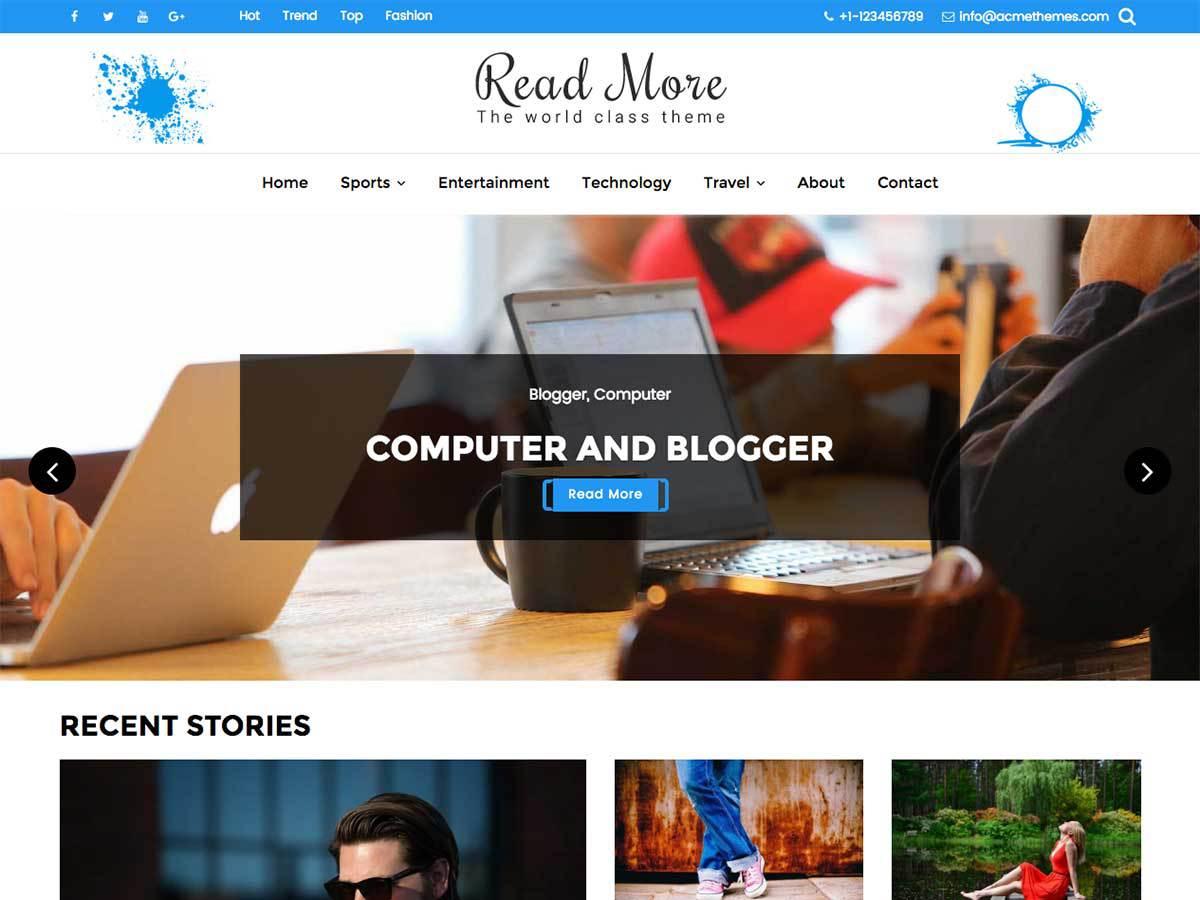 Download Read More 1.2.1 – Free WordPress Theme