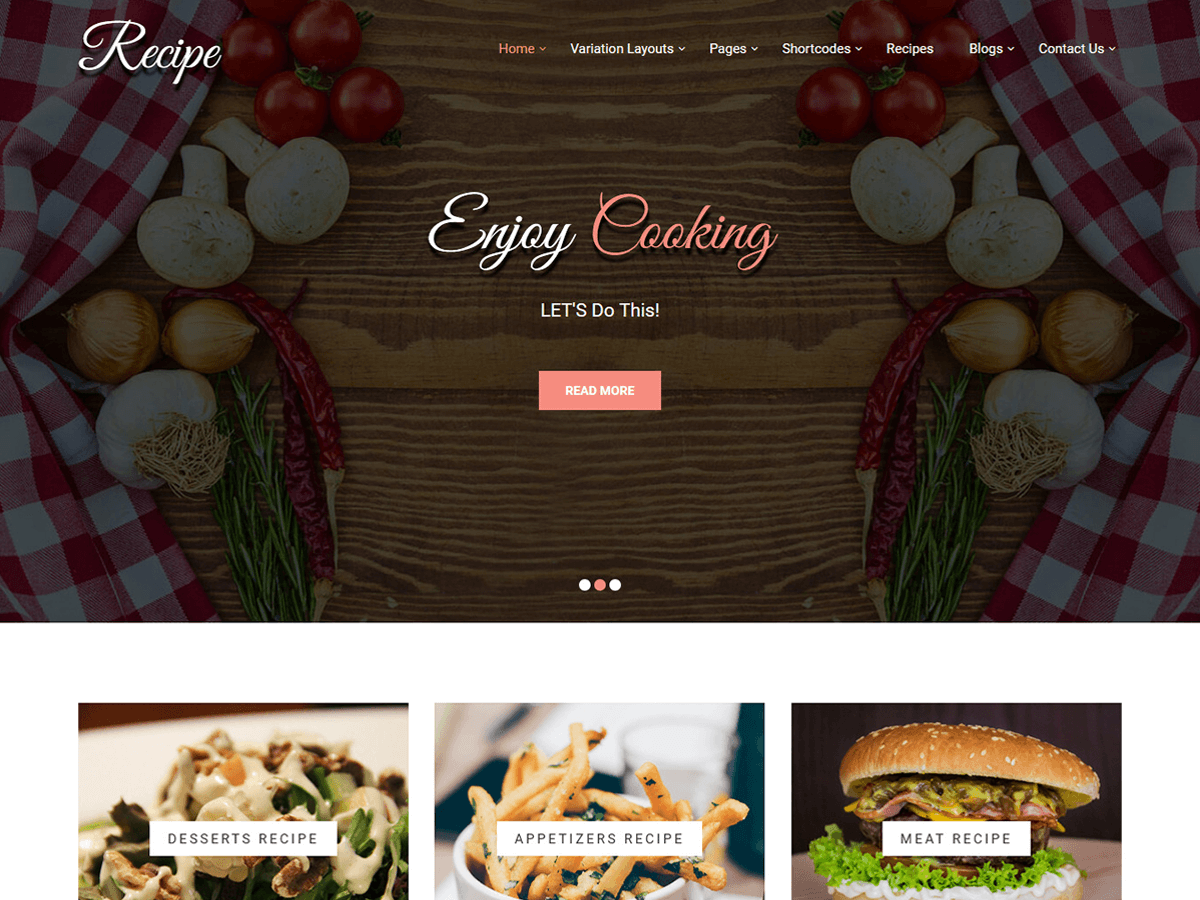 Download Recipe Lite 1.0 – Free WordPress Theme