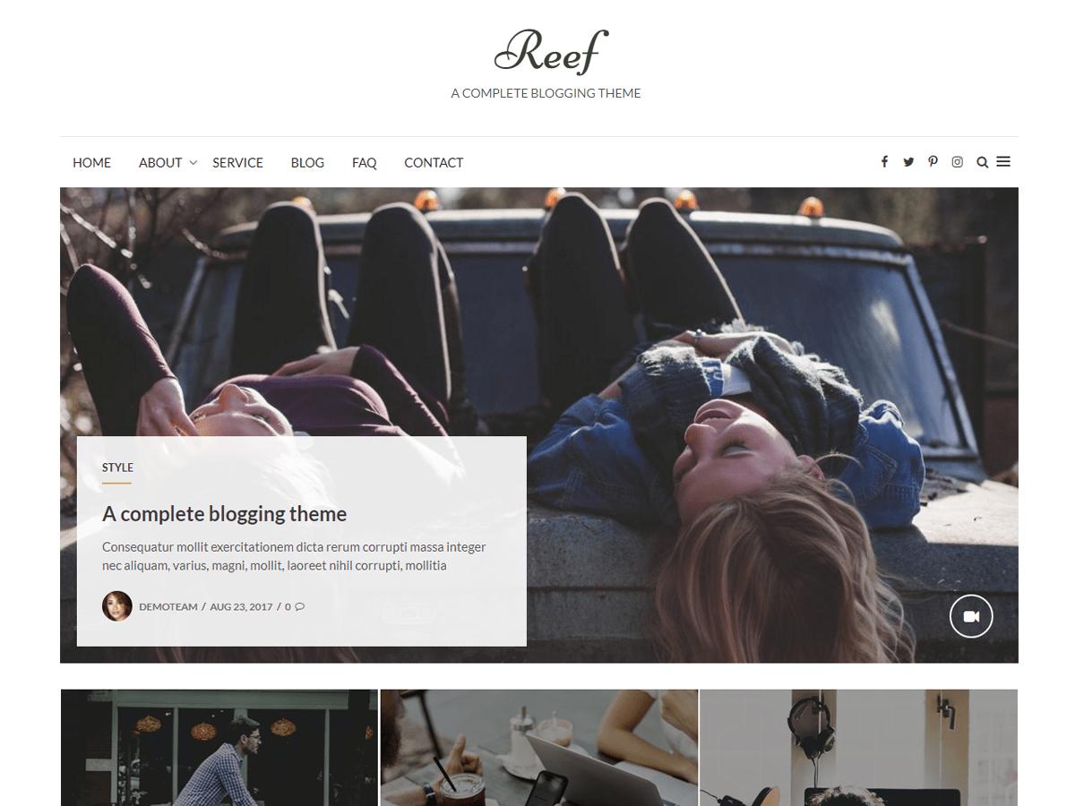 Download Reef 1.7 – Free WordPress Theme