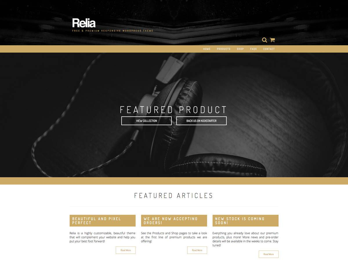 Download Relia 1.1.2 – Free WordPress Theme
