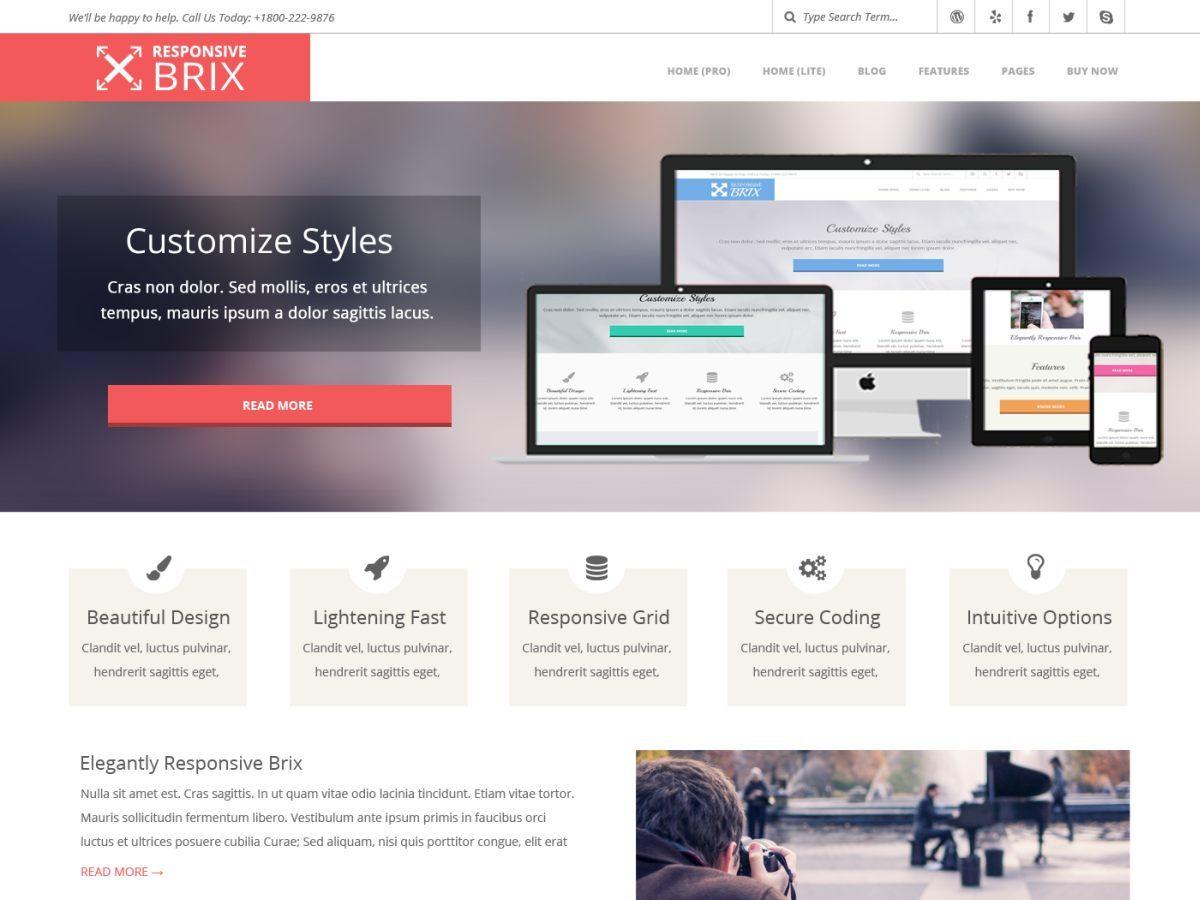 Download Responsive Brix 4.6.7 – Free WordPress Theme
