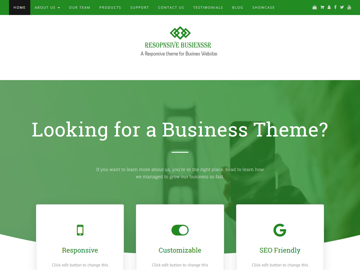 Download Responsive Businessr 1.0.1 – Free WordPress Theme