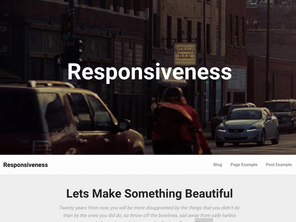 Download Responsiveness 1.0.9 – Free WordPress Theme