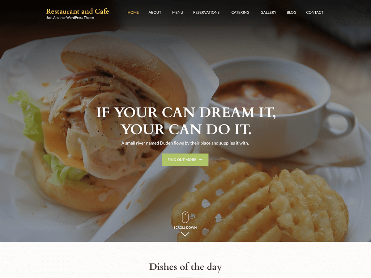 Download Restaurant and Cafe 1.1.2 – Free WordPress Theme