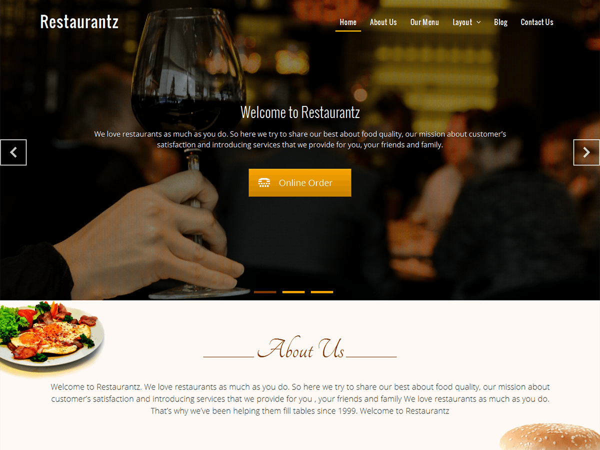 Download Restaurantz 1.6.1 – Free WordPress Theme