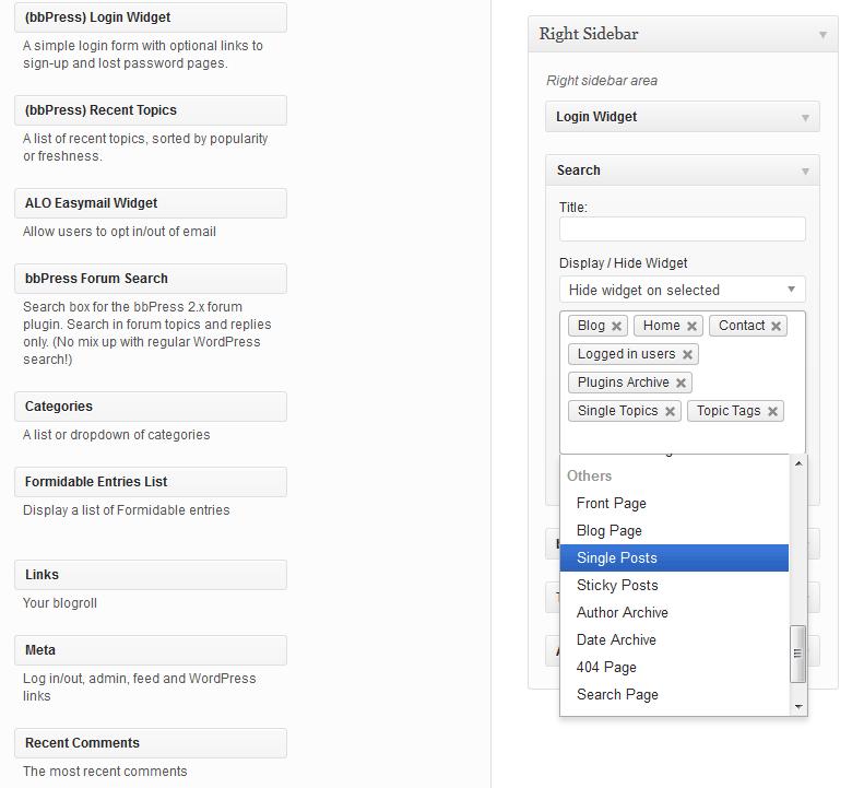 Download Restrict Widgets 1.3.1 – Free WordPress Plugin