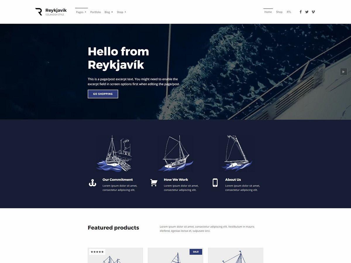 Download Reykjavik 1.3.0 – Free WordPress Theme