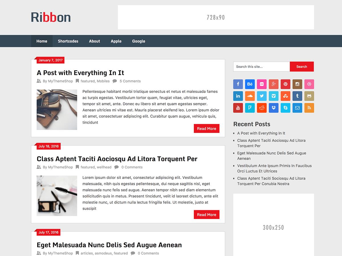 Download Ribbon Lite 2.0.8 – Free WordPress Theme