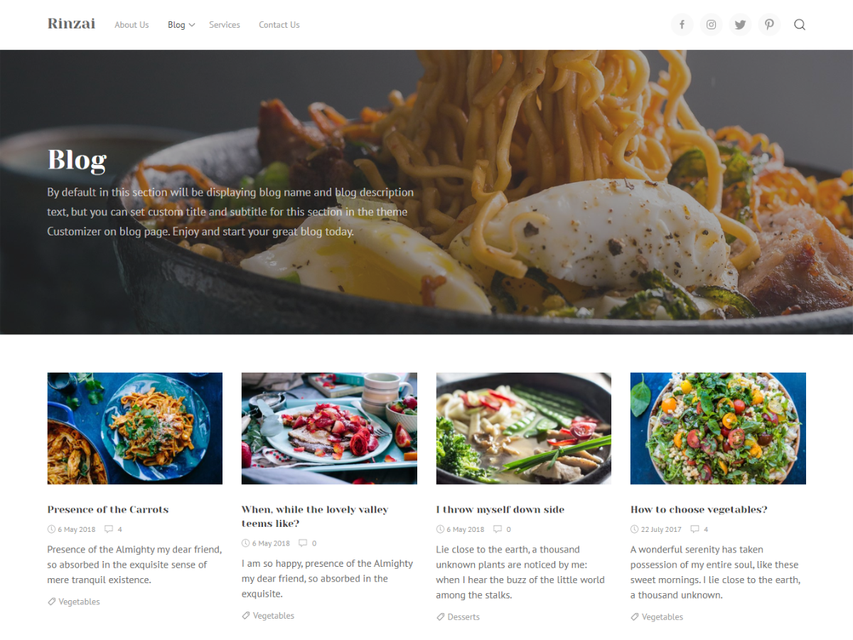 Download Rinzai 1.1.5 – Free WordPress Theme