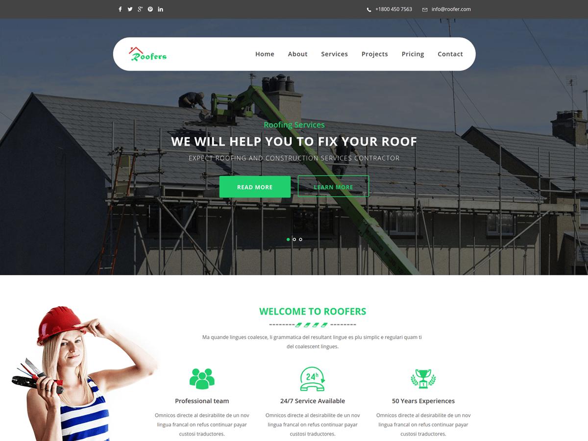 Download Roofers 1.0.4 – Free WordPress Theme