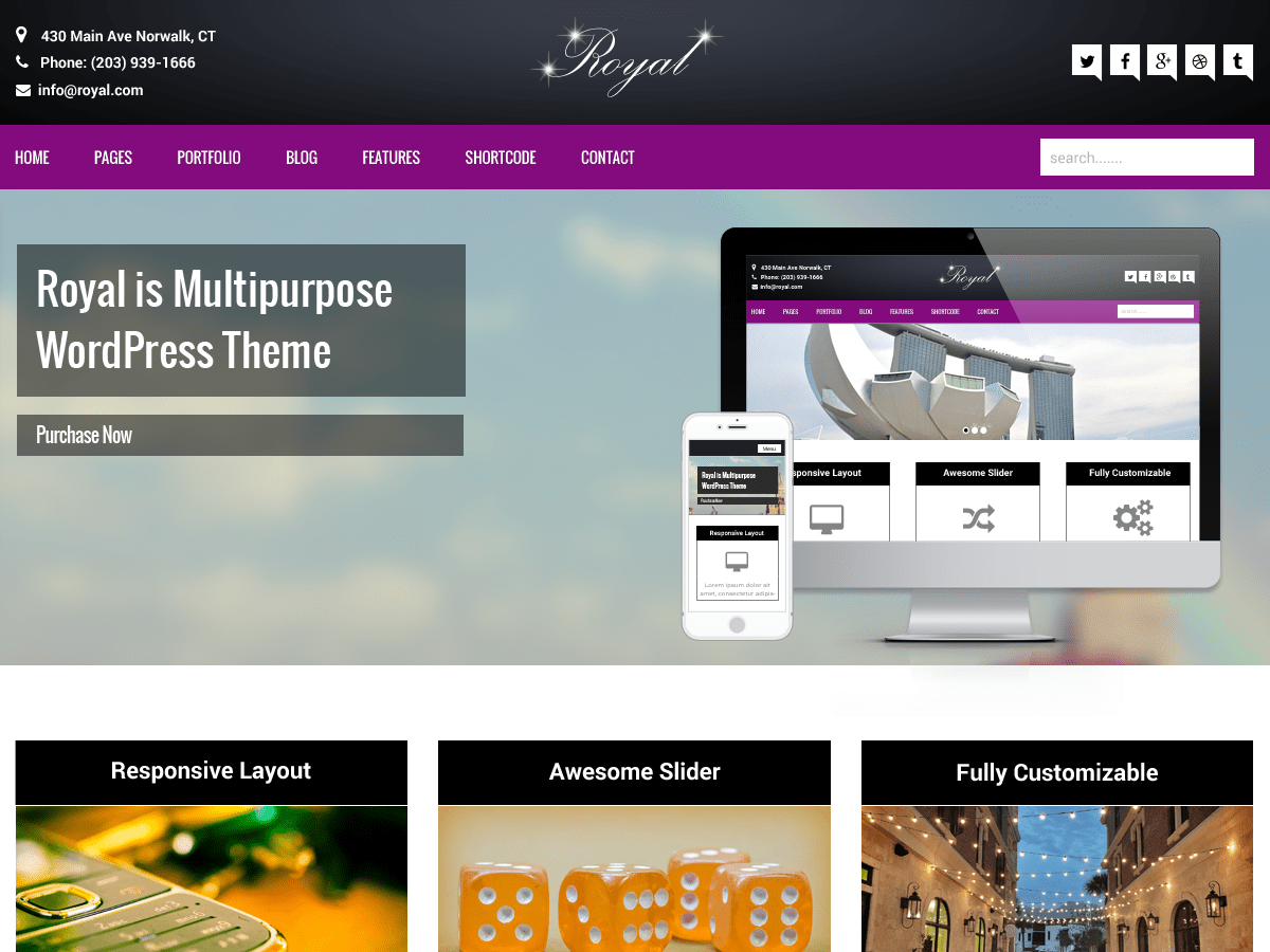 Download Royal 1.1.7 – Free WordPress Theme