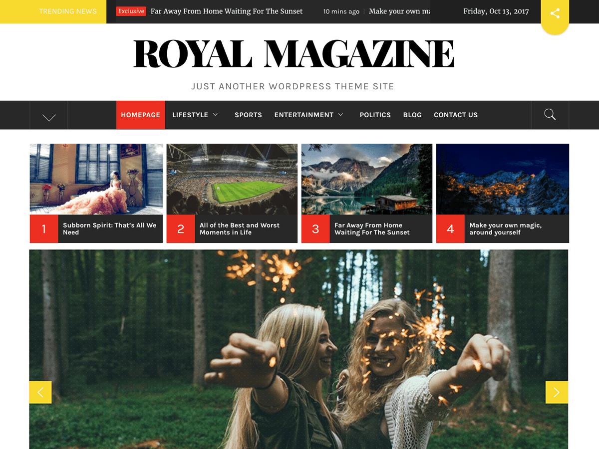 Download Royal Magazine 1.1.3 – Free WordPress Theme