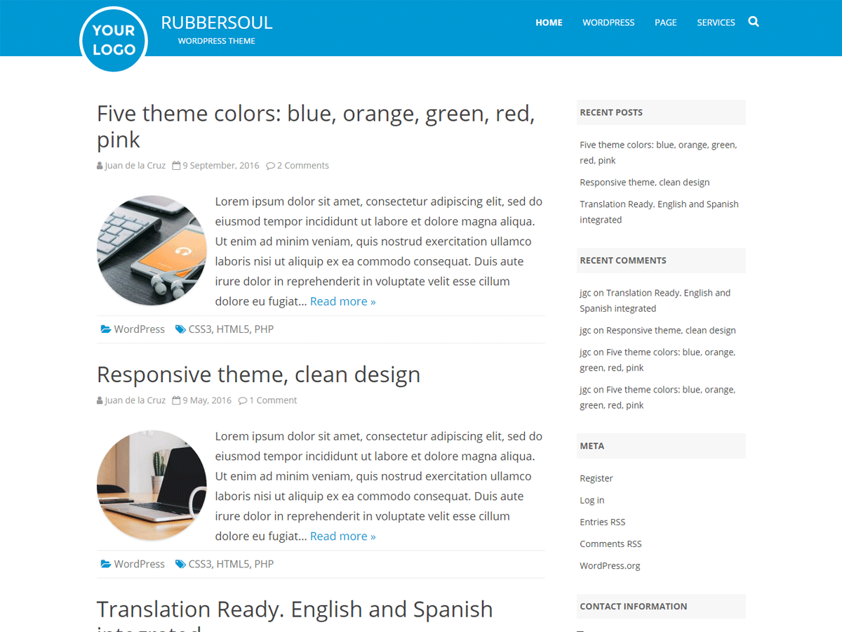 Download RubberSoul 2.3.0 – Free WordPress Theme