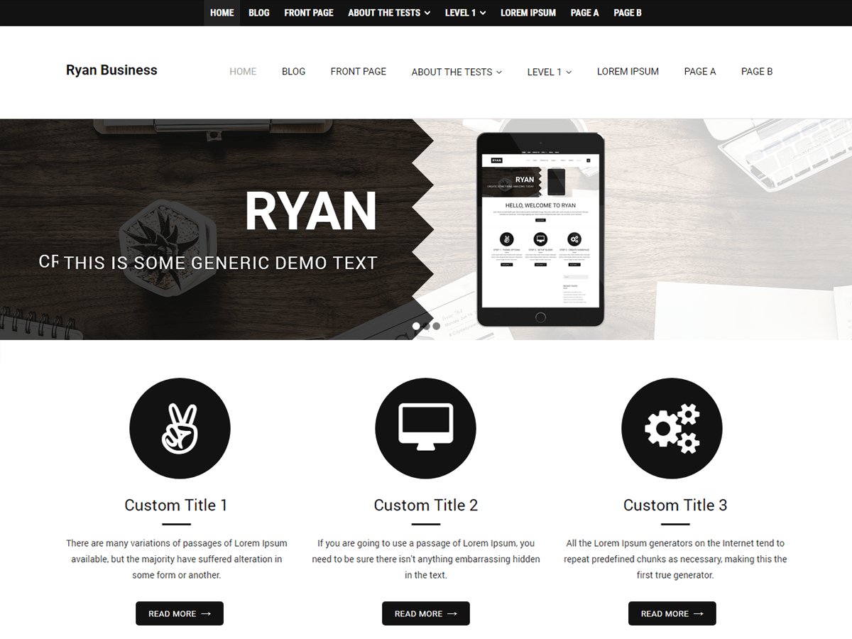 Download Ryan Business 1.0.1 – Free WordPress Theme