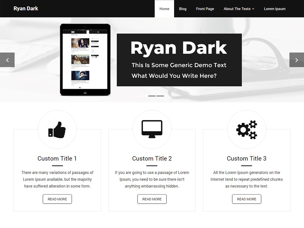 Download Ryan Dark 1.0.1 – Free WordPress Theme